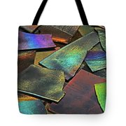Iridescence Angles, Curves Greens Blues Browns Rusts Yellows Geometric 2 8312017  Tote Bag