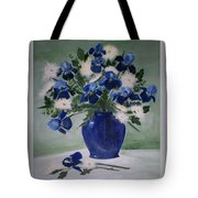 Iris And Mums Tote Bag