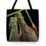 Iris And Old Bottles Tote Bag
