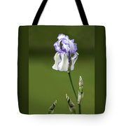 Iris Buds To Flower Tote Bag
