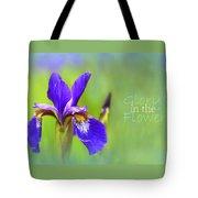 Iris Elegance Tote Bag