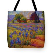 Iris Field Tote Bag