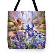 Iris - Fine Tune Tote Bag by Anne Wertheim