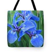 Iris Floral  Tote Bag