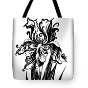 Iris Flower And Butterfly Tote Bag