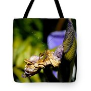 Iris Flower And Visitor Tote Bag