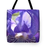 Iris Flower Purple Irises Floral Botanical Art Prints Macro Close Up Tote Bag