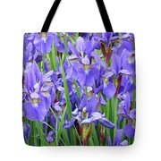 Iris Flowers Artwork Purple Irises 9 Botanical Garden Floral Art Baslee Troutman Tote Bag