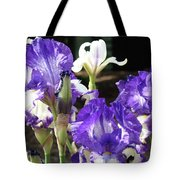 Iris Flowers Floral Art Prints Purple Irises Baslee Troutman Tote Bag