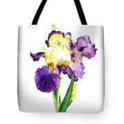 Iris Flowers Watercolor  Tote Bag