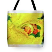Iris In Abstract Tote Bag