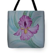 Iris In Lavender Tote Bag