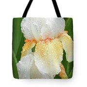 Iris In The Rain Tote Bag