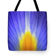 Iris Leaf Abstract Tote Bag