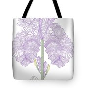 Iris Line Drawing Two Tote Bag