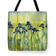 Iris On Parade Tote Bag