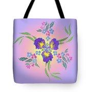 Iris Pinwheel Tote Bag