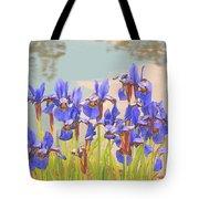 Iris Pondside 39m Tote Bag by Brian Gryphon