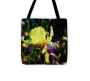 Iris Purple And Yellow Tote Bag