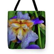 Iris Rain Blue Tote Bag
