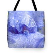 Iris Rainy Day Blue Tote Bag