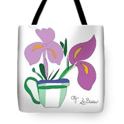 Iris Scribble Tote Bag