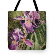 Iris Twins Tote Bag