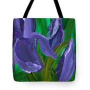 Iris Up Close And Personal Tote Bag