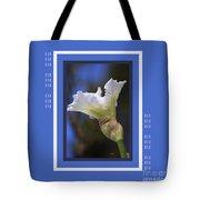Iris White With Design Tote Bag