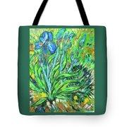 Irises Ala Van Gogh Tote Bag