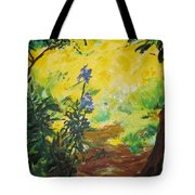 Irises  And Sunlight Tote Bag by Lizzy Forrester