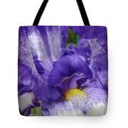 Irises Artwork Purple Iris Flowers Art Prints Canvas Baslee Troutman Tote Bag
