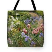 Irises At Bedfield Tote Bag