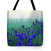 Irises At Dawn 3 Tote Bag