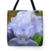 Irises Blue Iris Flower Light Blue Art Flower Soft Baby Blue Baslee Troutman Tote Bag