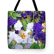 Irises Flowers Garden Botanical Art Prints Baslee Troutman Tote Bag