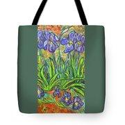Irises In A Sunny Garden Tote Bag