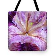 Irises Summer Purple Lavender Iris Flower Art Print Baslee Tote Bag