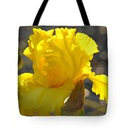 Irises Yellow Iris Flowers Art Prints Floral Canvas Baslee Troutman Tote Bag