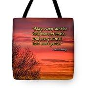 Irish Blessing - May Every Sunrise... Tote Bag