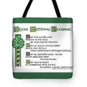 Irish Celtic Wedding Blessing Tote Bag