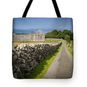 Irish Church Ruins Tote Bag