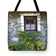 Irish Cottage Window County Clare Ireland Tote Bag