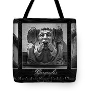 Irish Gargoyles Triptych Tote Bag