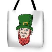 Irish Leprechaun Wearing Top Hat Drawing Tote Bag