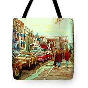 Irish Pubs And Bistros Downtown Montreal Tote Bag