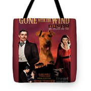 Irish Terrier Art Canvas Print - Gone To The Wind Movie Poster Tote Bag