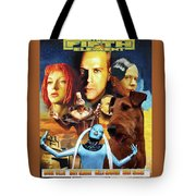 Irish Terrier Art Canvas Print - The Fifth Element Movie Poster Tote Bag