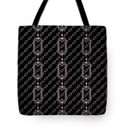 Iron Chains With Black Background Seamless Texture Tote Bag