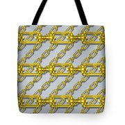 Iron Chains With Brushed Metal Seamless Texture Tote Bag